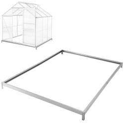Fundament till växthus - 190 x 190 x 12 cm grå
