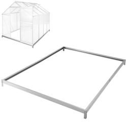 Fundament till växthus - 250 x 190 x 12 cm Silver