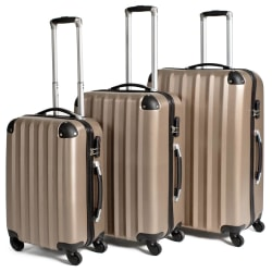 Hårda resväskor, set Beige
