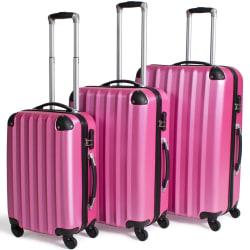 Hårda resväskor, set Rosa