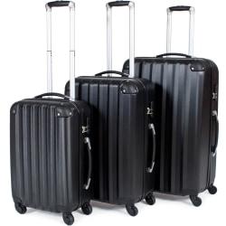 Hårda resväskor, set Svart