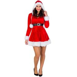 Julklänning Mrs. Santa Claus Red L