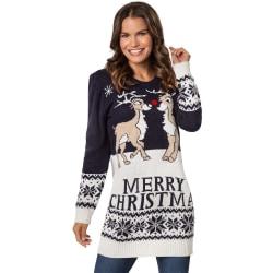 Jultröja Merry Christmas för dam Blue L