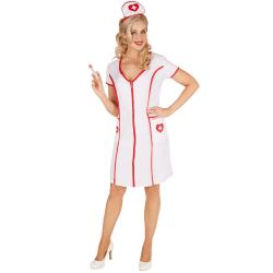Maskeraddräkt Dam Sjuksköterska White XL
