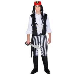 Maskeraddräkt för herr Råbarkad Piratkapten Black XXL