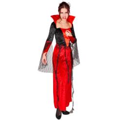 Maskeraddräkt Gothic Vampyrklänning Red XL