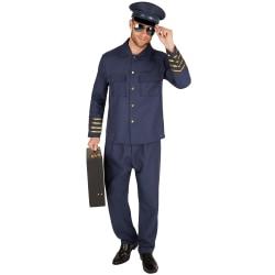 Maskeraddräkt Herr Pilot Blue XL