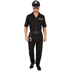 Maskeraddräkt Herr Polis Black XXL