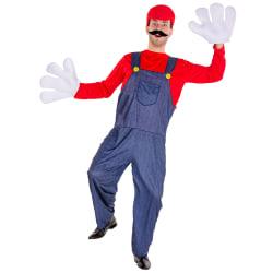 Maskeraddräkt Herr Super rörmokare Mario Red S