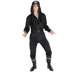 Maskeraddräkt Pirat Skäggstubb Black XXL