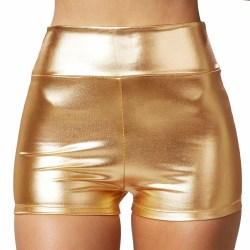 Metallic-hotpants guld Gold M