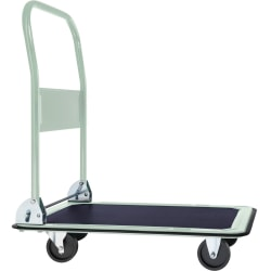 Plattformsvagn hopfällbar max 150 kg Vit