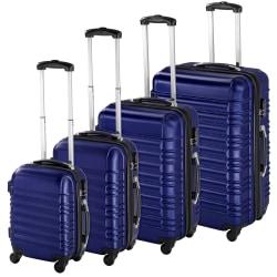 Resväskor ABS 4-set Blå