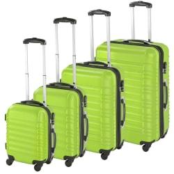 Resväskor ABS 4-set Grön