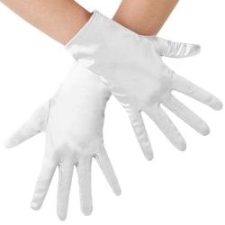 Satinhandskar Vit one size