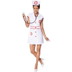 Sexig Sjuksköterska White XXL