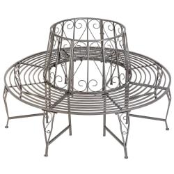 tectake 360° Trädbänk av stål grå