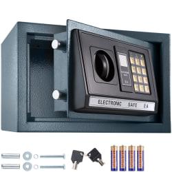 tectake Elektroniskt kassaskåp + nyckel modell 1 Svart