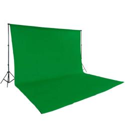 tectake Fotobakgrund komplett set Grön