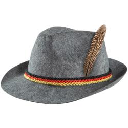 tectake Grå traditionell bayersk hatt med Tysklands färger grå