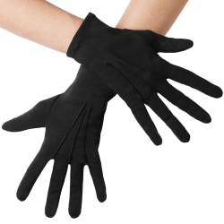 tectake Handskar med veck Svart one size