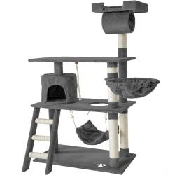 tectake Katt klösträd / klösmöbel Martin grå