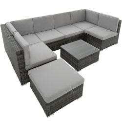 tectake Loungeset Venedig i konstrotting grå