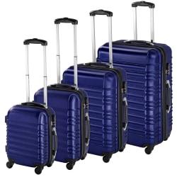 tectake Resväskor ABS 4-set Blå