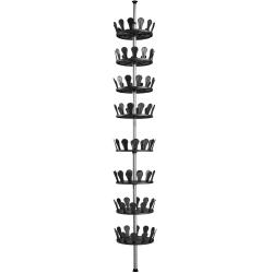 tectake Skohylla vridbara hyllplan Black