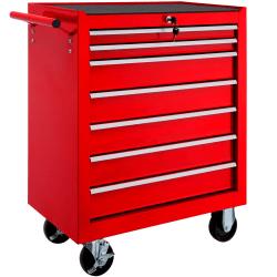 tectake Verktygsvagn med 7 lådor Röd