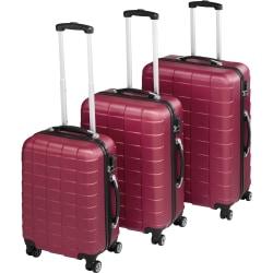 Trolley-set 3 delar hardcase Röd