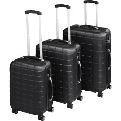 Trolley-set 3 delar hardcase Svart