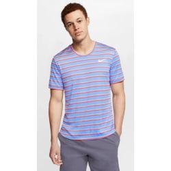 NIKE Dry Top Team Lightblue Striped Mens L