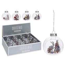 12st Julgranskulor med Hjortdjur o julgran dekoration inuti