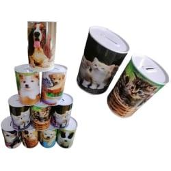 2-Pack Hund/Katt sparbössor  - sparbössa 2 Pack Katt Motiv