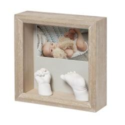 Baby Art Smycka fotoramen m ditt barns egna 3D hand o fotavtryck