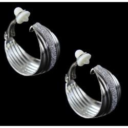 Clipsörhängen för dig utan hål i öronen m glittriga kristaller
