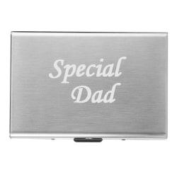 Fars dag - Speical Dad - Exklusiv Korthållare - farsdag Silver