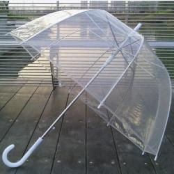 Genomskinligt Dome Paraply i klar pvc-plast