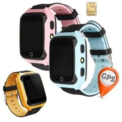 GPS+LBS Smartklocka Stegräknare mm för barn. Sim-kort Medföljer Blå