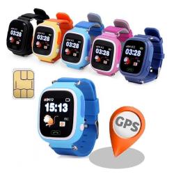 GPS+LBS Smartklocka Stegräknare mm för barn. Sim-kort Medföljer Mörkblå