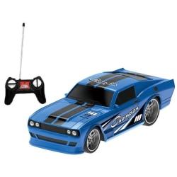Häftig´Radiostyrd rallybil i skala 1:24 18CM . Fr 6år Blå