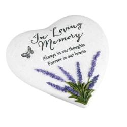 Hjärtformad Gravsmyckning gravsten - In Loving Memory