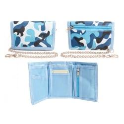 Kamouflage plånbok med kedja för barn