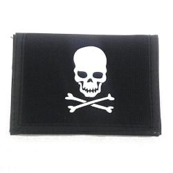 Plånbok med skull tryck Svart