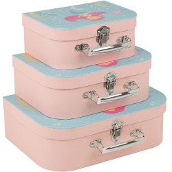Set av 3 barn väskor m Sjöjungfru bild - fr 3år+ multifärg