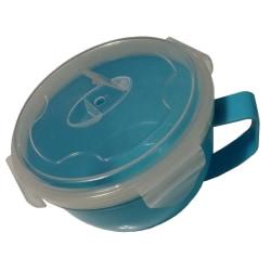 SOPP / NUDELSKÅL För Micro med Handtag, lock o ventilationslock multifärg