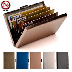 Stilren Exklusiv stål Korthållare / Plånbok - RFID Säker Rosa guld