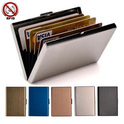 Stilren Exklusiv stål Korthållare / Plånbok - RFID Säker Silver