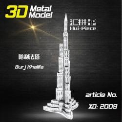 3D Pussel Metall - Berömda Byggnader - Burj Khalifa